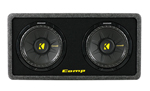 Kicker 40dcws102 Ported Enclosure With Dual Comps Subwoofers