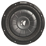"""Kicker CompVT 10CVT12-4 Brand New Includes One Year Warranty, The Kicker CompVT 10CVT12-4 is a 12"""" single 4 Ohm subwoofer that allows multiple wiring configurations, giving the subwoofer a true versatility"