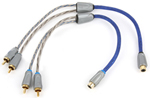 Kicker Ziym 2-channel Y-adapter Rca Interconnect Cable