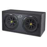 """Kicker Comp 10DC12-2 Brand New  The Kicker Comp 10DC12-2 is a 12"""" Vented truck enclosure with dual 2-Ohm subwoofers that combines advanced components and superior technology"