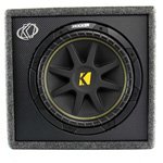 Kicker 10vc124 Ported Enclosure W/ One 12 Inch Comp Subwoofer